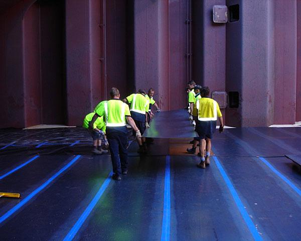 cargo separation horizontal steel plate three ocean maritime perth western australia