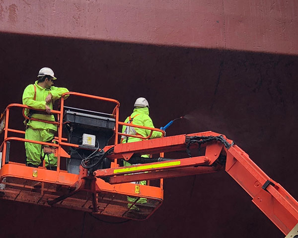 cargo ship hull cleaning rapid response - three ocean maritime