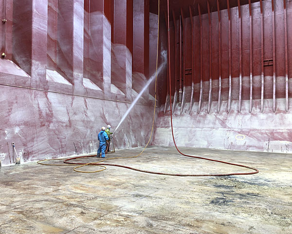 cargo ship hold cleaning equipment hire three ocean maritime perth western australia
